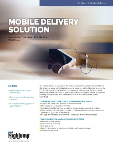 HighJump Mobile Delivery Solution