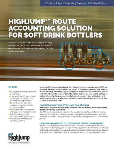 Route Accounting Solution for Soft Drink Bottlers