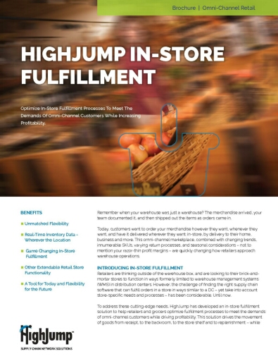 A Look into HighJump In-Store Fulfillment