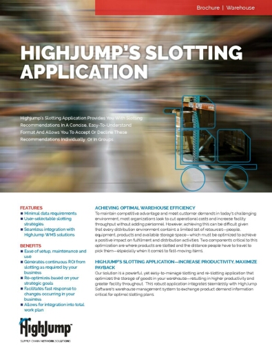 A Look into the easy to manage Highjump Slotting application