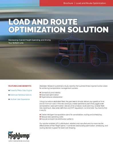 HighJump Load and Route Optimization Solution