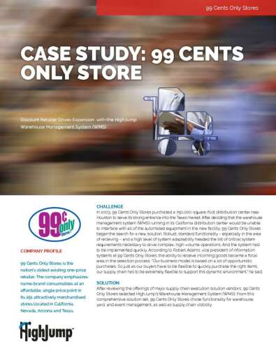 99 cent store case study View an amphion business case study on 99 cents only stores.