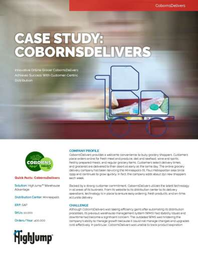 CobornsDelivers - Innovative Online Grocer Achieves Success with Customer-Centric Distribution