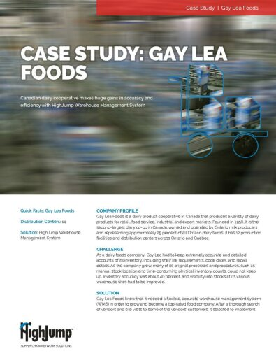 Gay Lea Foods - Canadian dairy cooperative makes huge gains in accuracy and efficiency