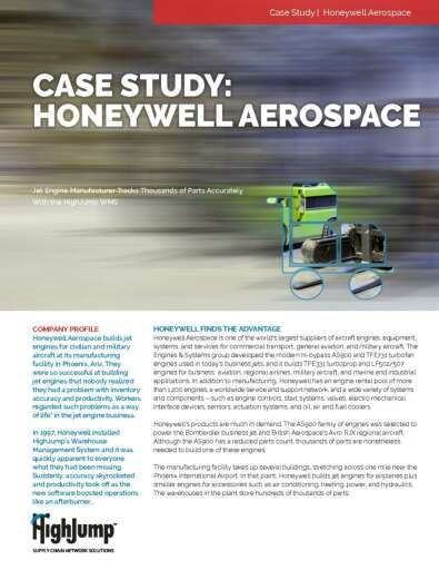Jet engine manufacturer tracks thousands of parts accurately with the HighJump WMS