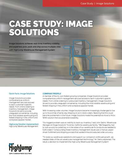 Image Solutions Case Study achieves real-time inventory visibility