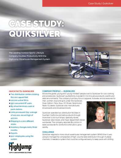Quiksilver - How the Leading Outdoor Sports Lifestyle Company Doubled Productivity