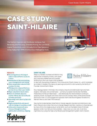 Fashion Importer and Distributer Saint-Hilaire Case Study