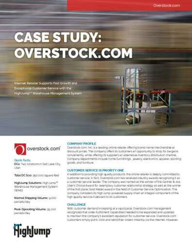 How Overstock.com's supply chain grew from $40M to $1.5B