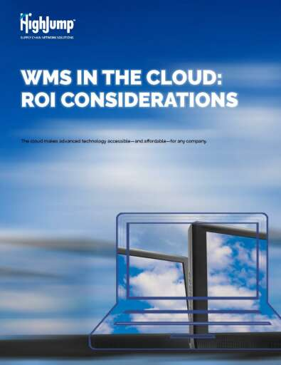 WMS in the Cloud: ROI Considerations